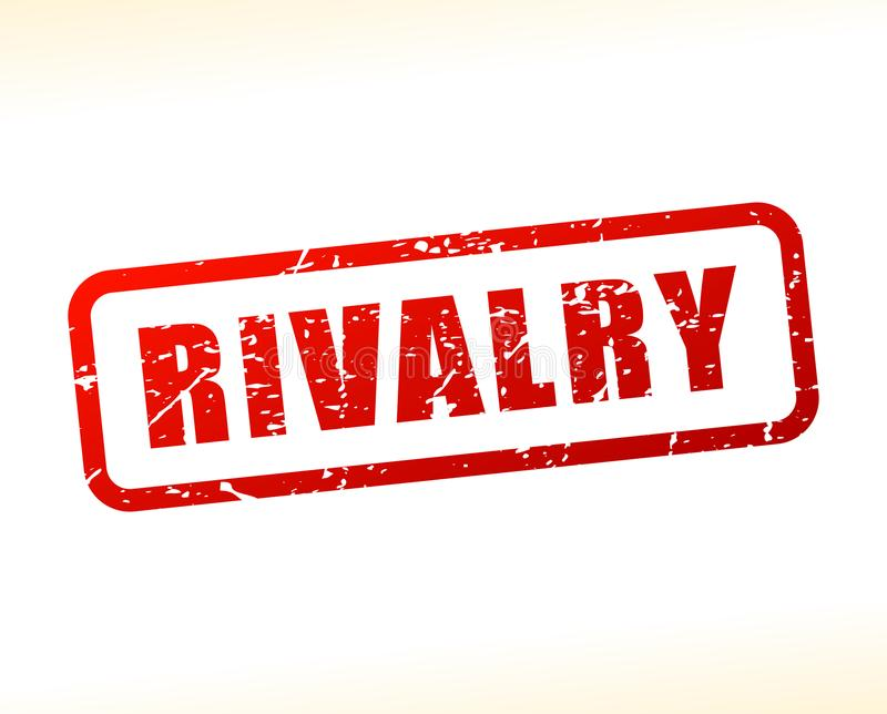 Rivalry red text stamp stock illustration