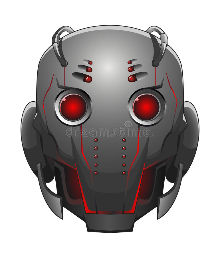 Illustration of robot head vector illustration