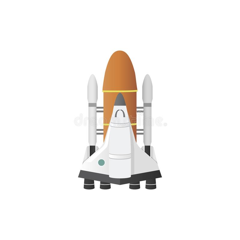 Illustration of rocket isolated on white royalty free illustration