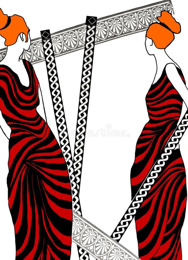 Illustration Of Roman Women Royalty Free Stock Photography