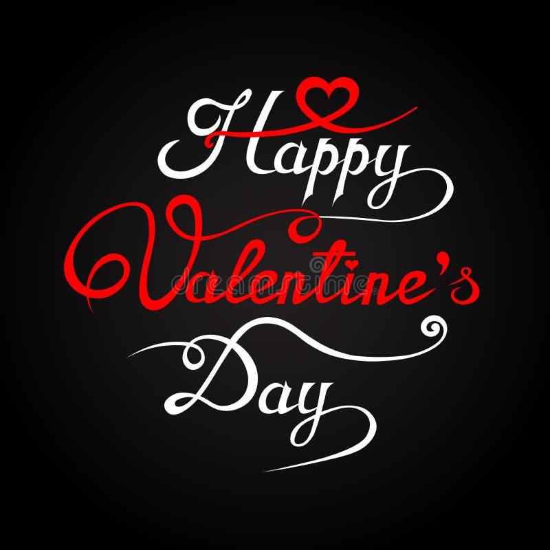 Illustration romantique heureuse de carte de voeux de jour de valentines illustration stock