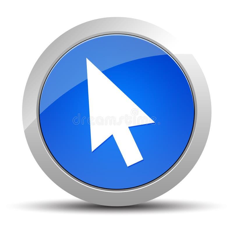 Illustration ronde bleue de bouton d'ic?ne de curseur illustration libre de droits