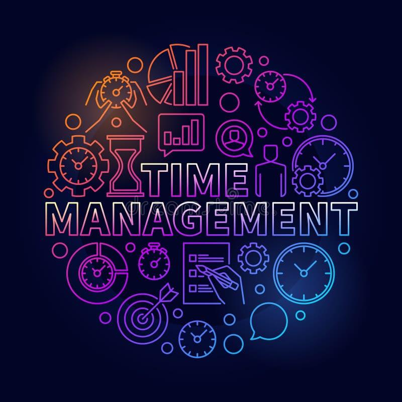 Illustration ronde colorée de gestion du temps illustration de vecteur