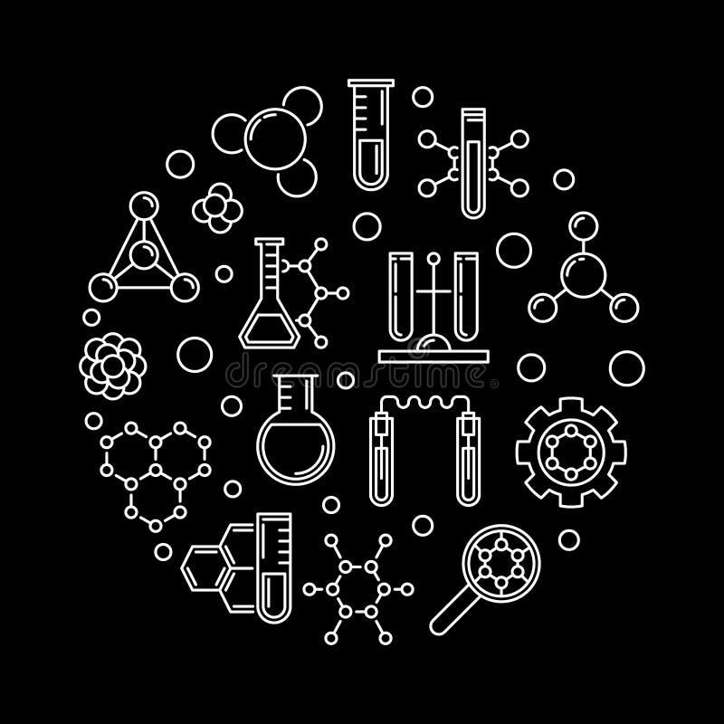 Illustration ronde d'ensemble de concept de vecteur de biochimie illustration de vecteur
