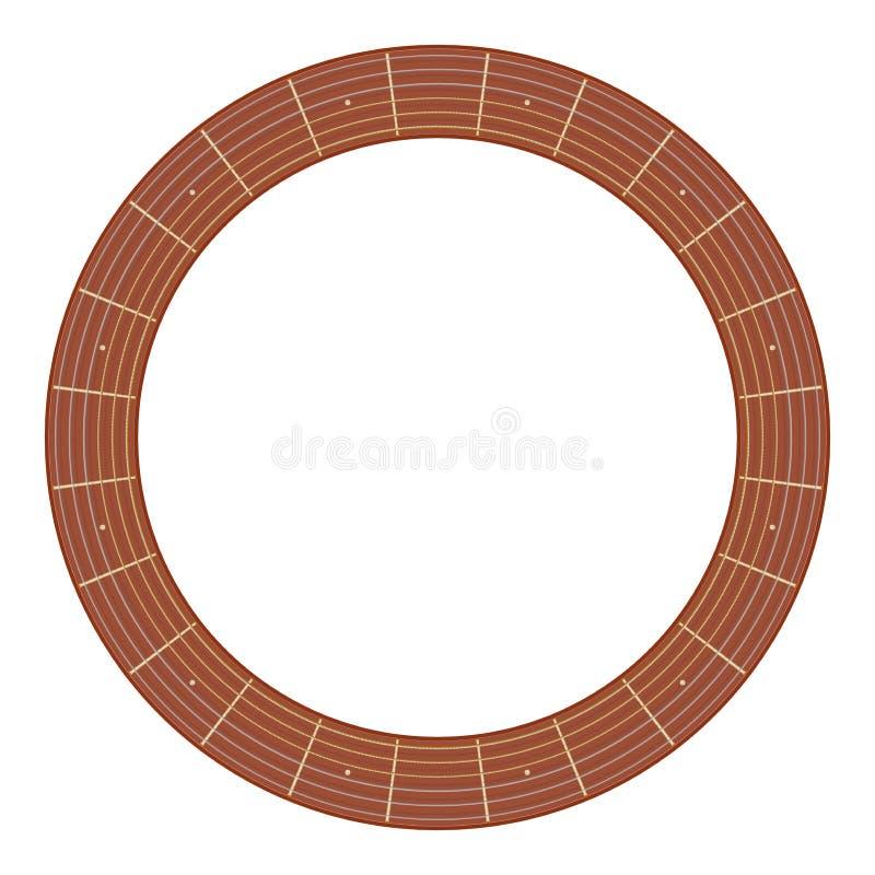 Illustration ronde de fretboard de guitare illustration stock