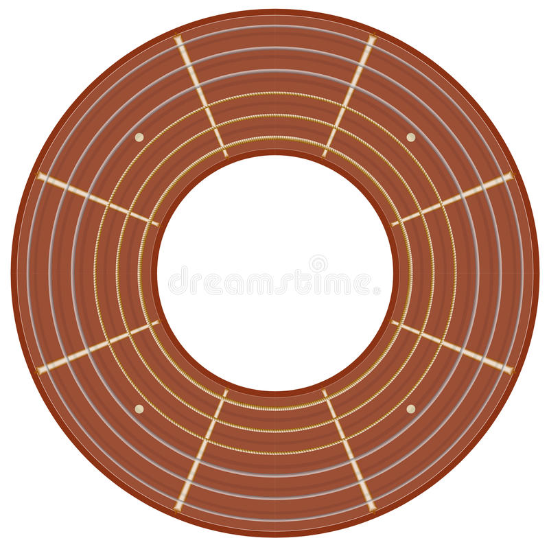 Illustration ronde de fretboard de guitare illustration de vecteur