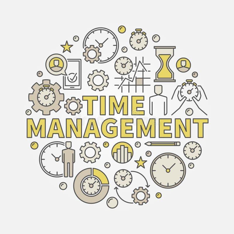 Illustration ronde de gestion du temps illustration stock