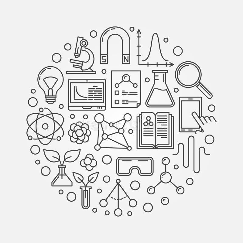Illustration ronde de la science de vecteur illustration libre de droits