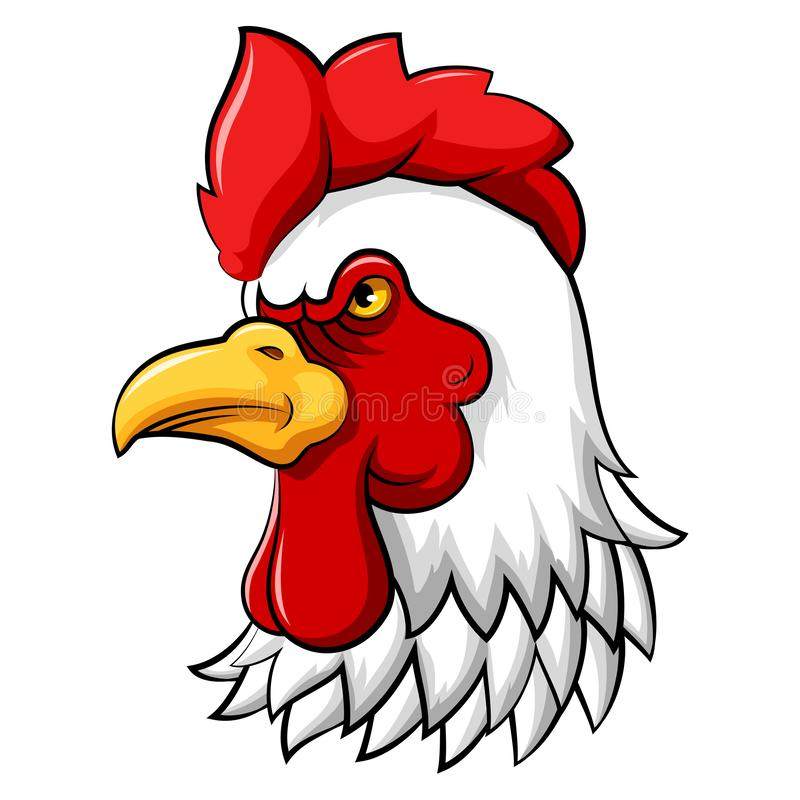 Rooster head mascot royalty free illustration