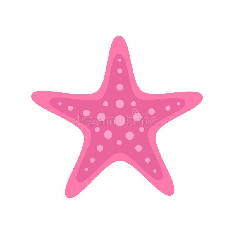 Illustration rose de vecteur d'étoiles de mer de mer illustration libre de droits