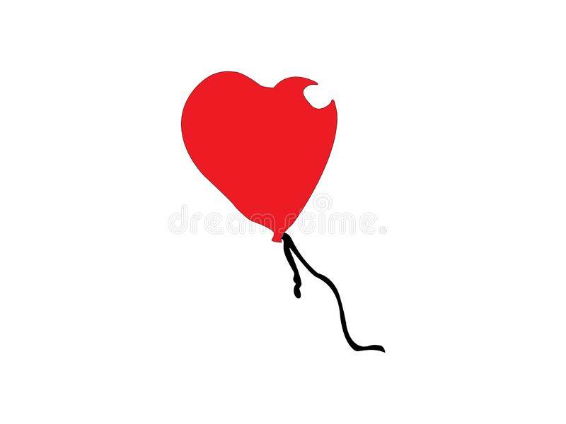 Illustration rouge de ballon de coeur illustration de vecteur
