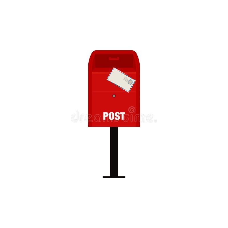 Illustration rouge de boîte de courrier de courrier illustration libre de droits