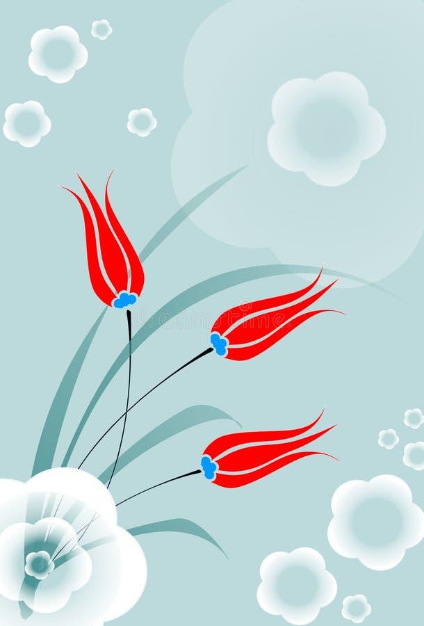 Illustration rouge de folower de tulipe illustration de vecteur