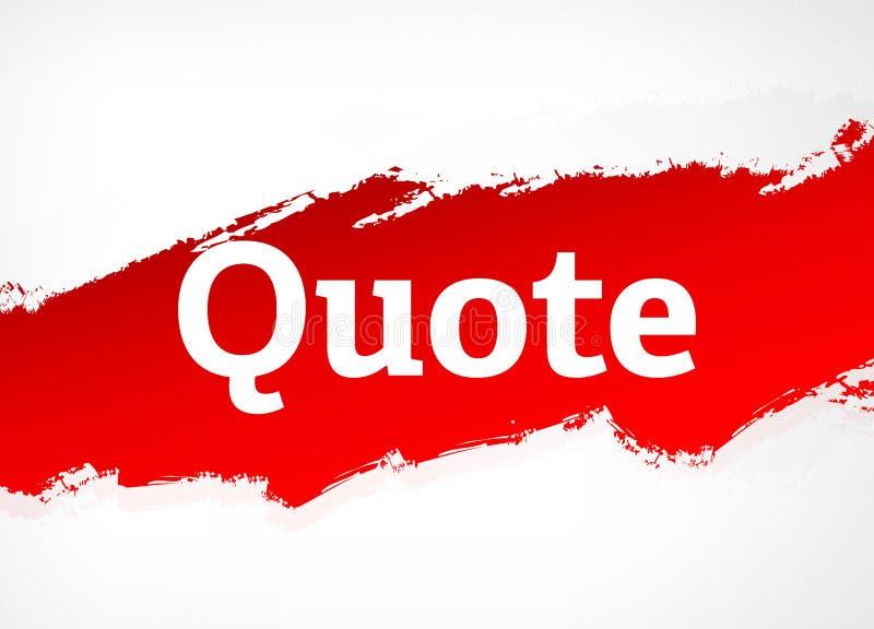 Illustration rouge de fond d'abrégé sur brosse de citation illustration libre de droits