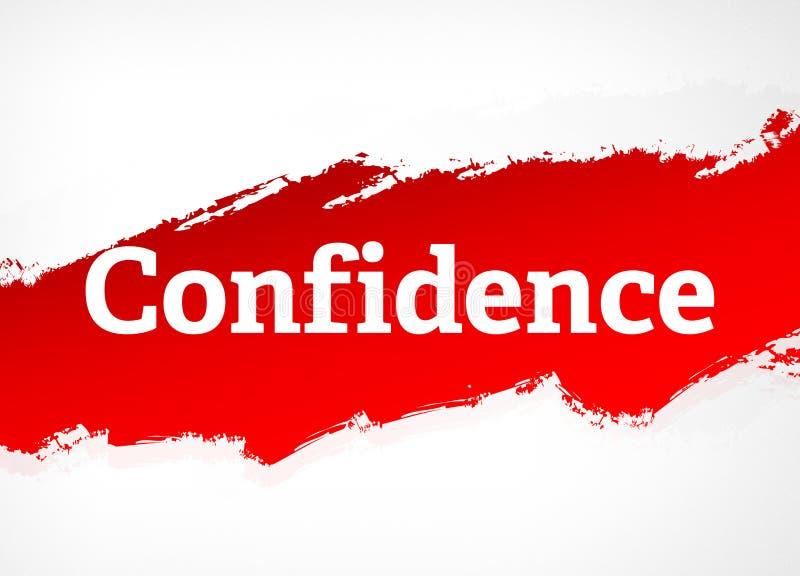 Illustration rouge de fond d'abrégé sur brosse de confiance illustration stock
