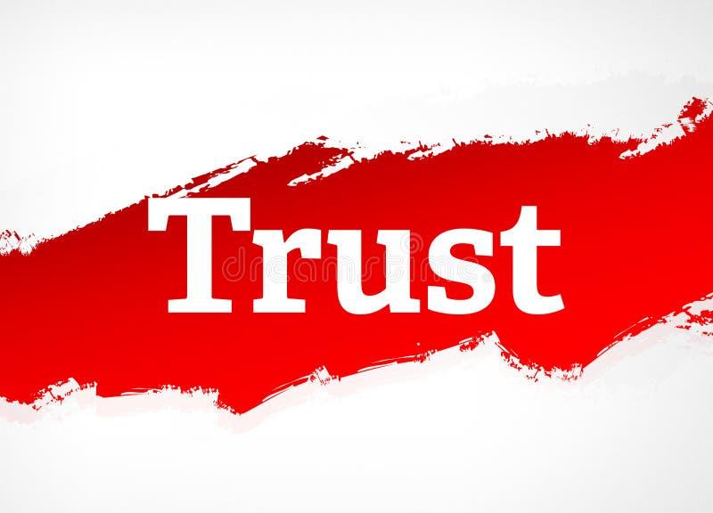 Illustration rouge de fond d'abrégé sur brosse de confiance illustration de vecteur