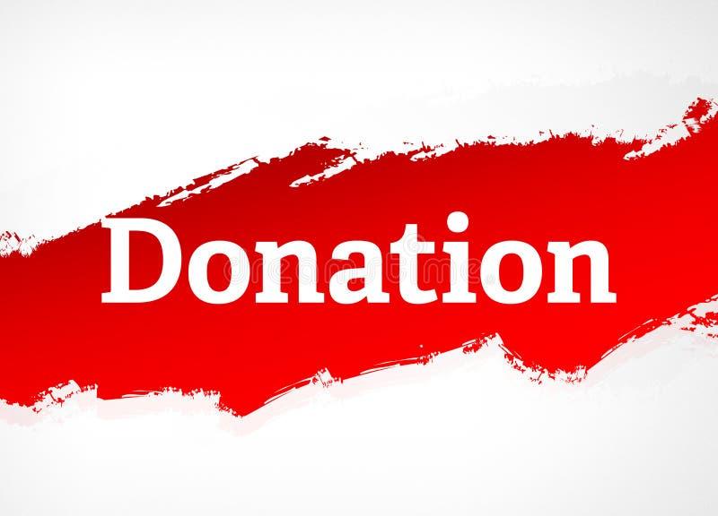 Illustration rouge de fond d'abrégé sur brosse de donation illustration libre de droits