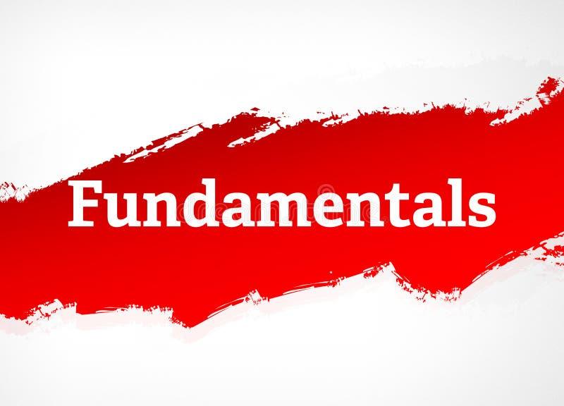 Illustration rouge de fond d'abrégé sur brosse de principes fondamentaux illustration libre de droits