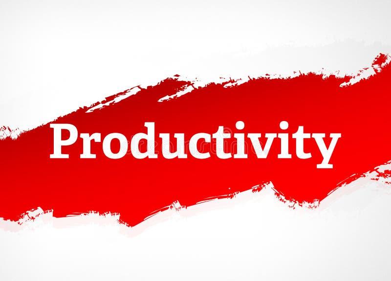 Illustration rouge de fond d'abrégé sur brosse de productivité illustration libre de droits