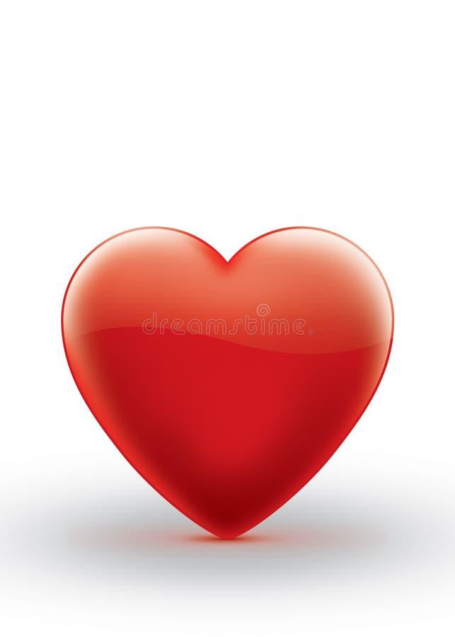 Illustration rouge de symbole de coeur d'isolement image libre de droits