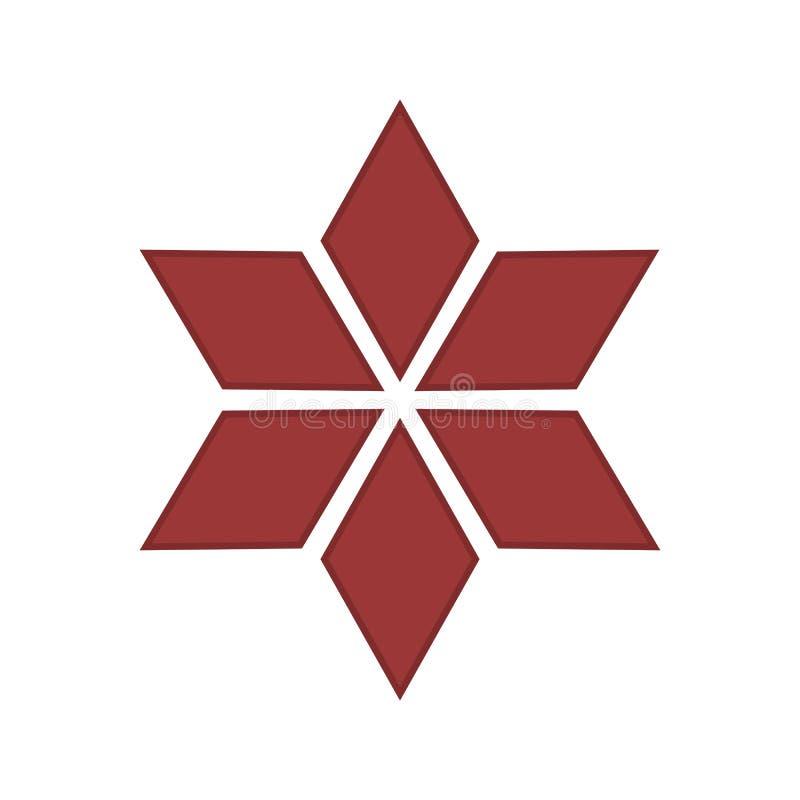 Illustration rouge de vecteur d'étoile de Noël - décoration de Holdiay illustration stock