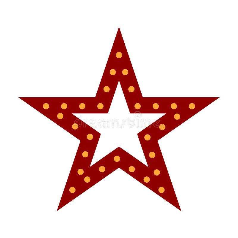 Illustration rouge de vecteur d'?toile de No?l - d?coration de Holdiay illustration stock