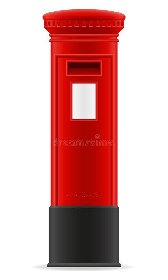 Illustration rouge de vecteur de boîte aux lettres de Londres illustration libre de droits