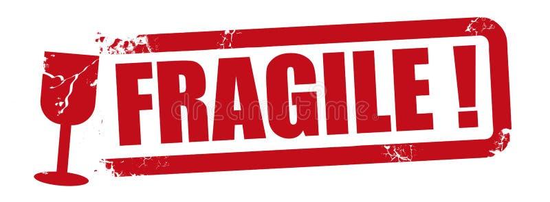 Illustration rouge de vecteur de timbre fragile illustration stock