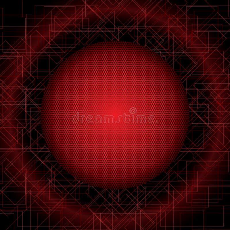 Download Illustration Rouge Futuriste Abstraite De Fond Illustration Stock - Illustration du cyberespace, dessin: 56476075