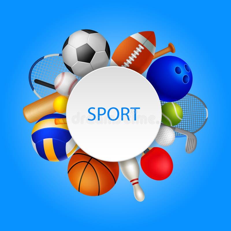 Round frame , sport background royalty free illustration
