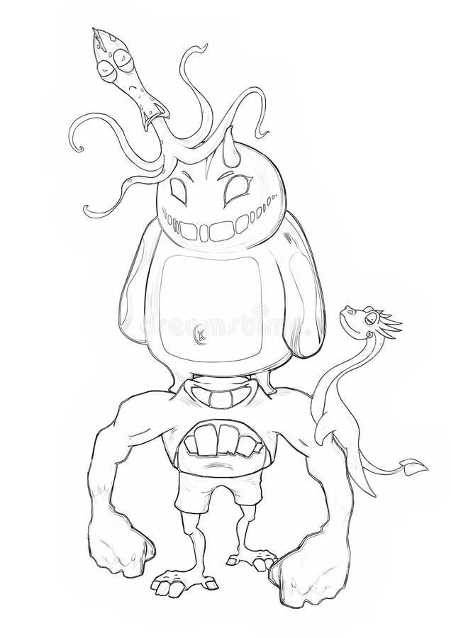Illustration Serie De Livre De Coloriage Kung Fu Rabbit Et Ses Monstres De Mauvais Cul Du Battement Deux D Amis Illustration Stock Illustration Du Kung Rabbit 71408813