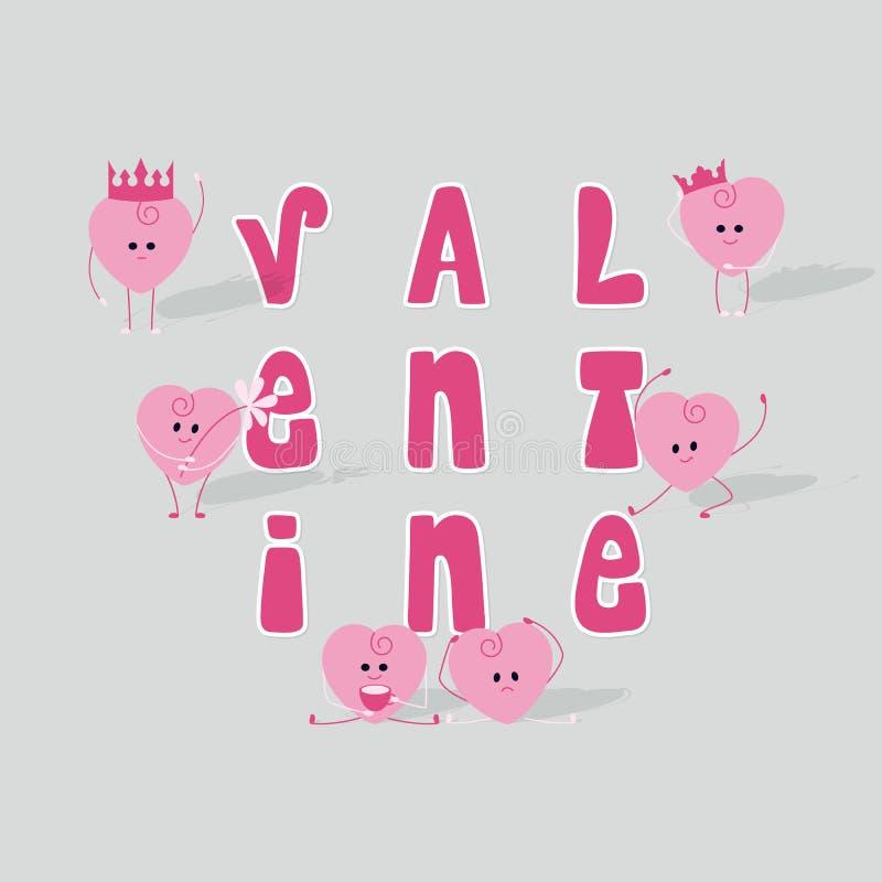 illustration s för hjärta för green för dreamstime för kortdagdesignen stylized valentinvektorn stock illustrationer