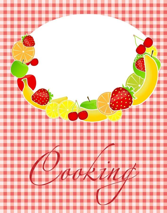 Illustration Saine De Vecteur De Descripteur De Carte De Nourriture Images stock