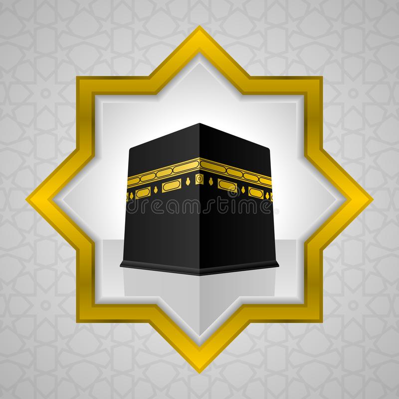 Illustration sainte de Kaaba, conception islamique illustration stock