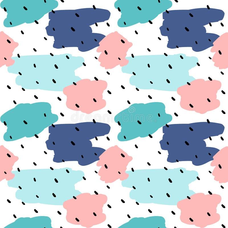Illustration sans couture abstraite colorée mignonne de fond de modèle de vecteur illustration libre de droits