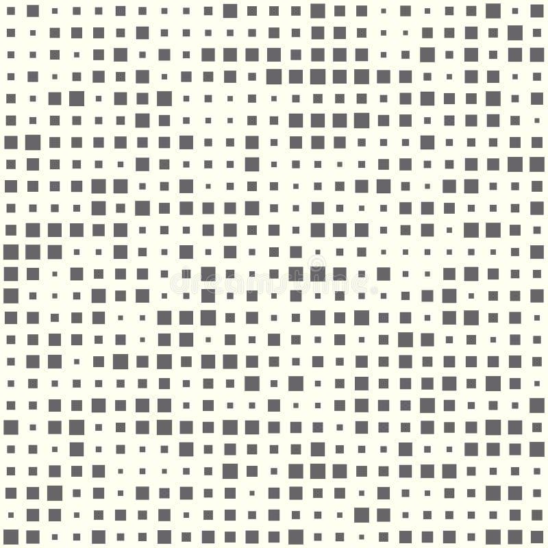 Illustration sans couture abstraite des places tramées Éléments géométriques de répétition monochromes Le calibre de vecteur, a r illustration libre de droits