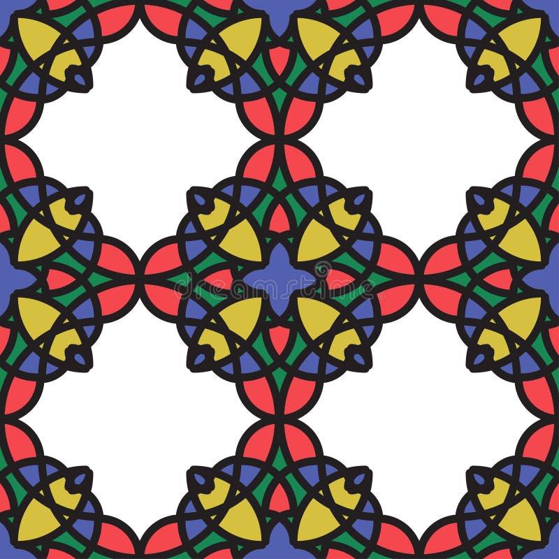Illustration sans couture abstraite - verre souillé illustration de vecteur