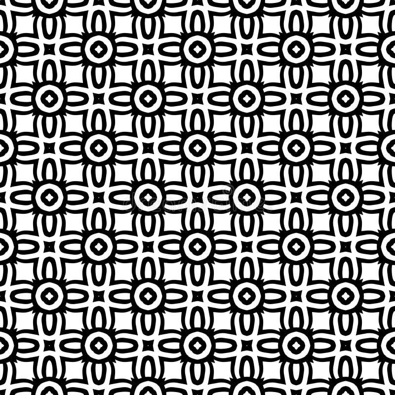 Illustration sans couture blanche noire de fond de modèle de n petite illustration stock