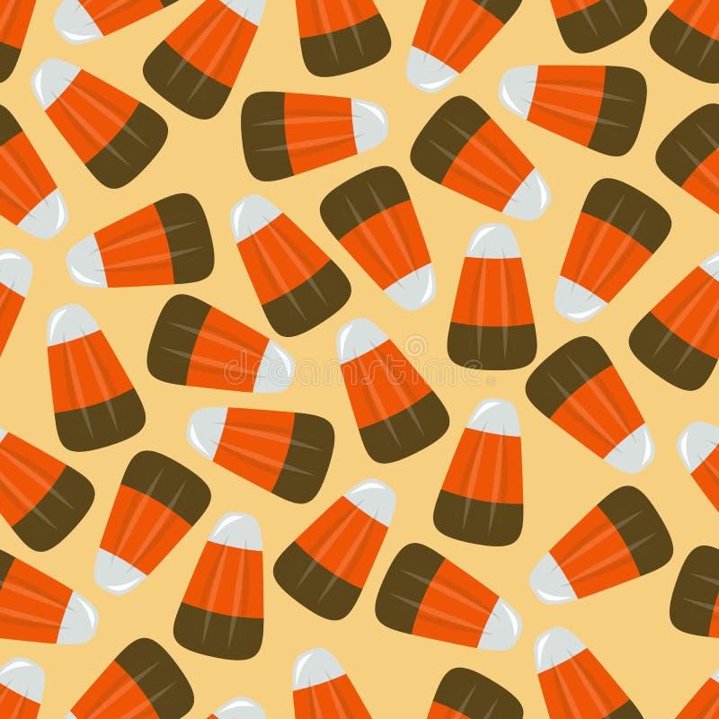Illustration sans couture carrée 1 de vecteur de bonbons au maïs illustration de vecteur