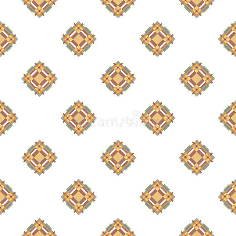 Illustration sans couture de tissu de modèle diagonal bleu et beige de texture illustration libre de droits