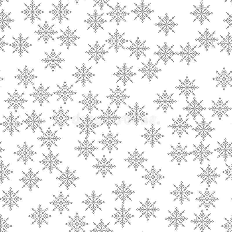 Illustration sans couture de vecteur de fond de Noël de lumière de modèle de flocon de neige le thème de l'hiver, nouvelle année, illustration stock