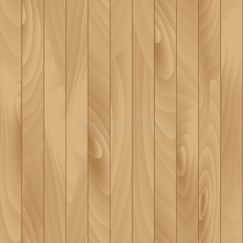 Illustration sans couture de vecteur en bois plat de texture illustration stock