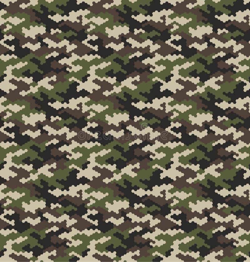 Illustration sans couture de vecteur de fond de modèle de camouflage illustration stock