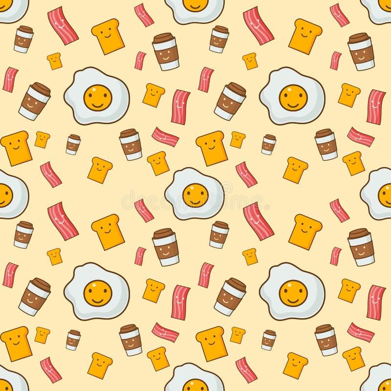 Illustration sans couture de vecteur de fond de petit déjeuner illustration libre de droits