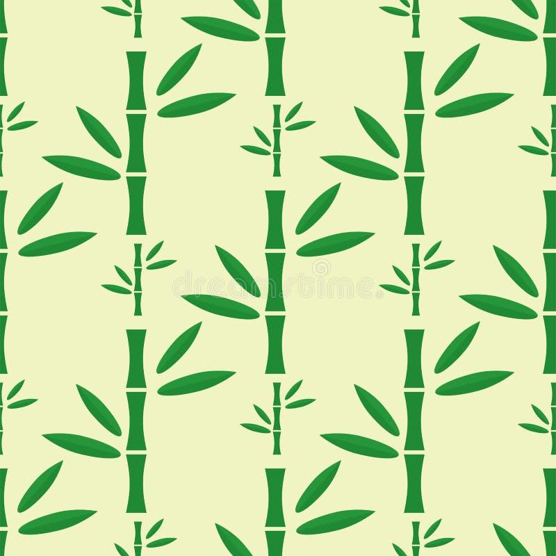 Illustration sans couture de vecteur de modèle de tige en bambou illustration de vecteur