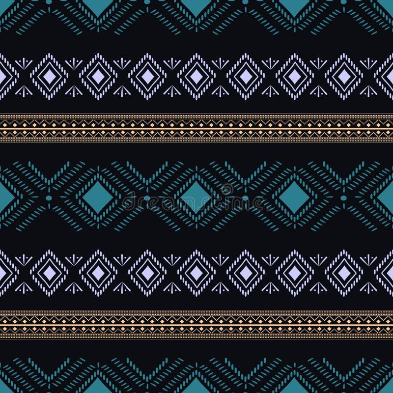 Illustration sans couture tribale ethnique de vecteur de modèle, abrégé sur mandala, cru africain aztèque de fond de style de ray illustration de vecteur