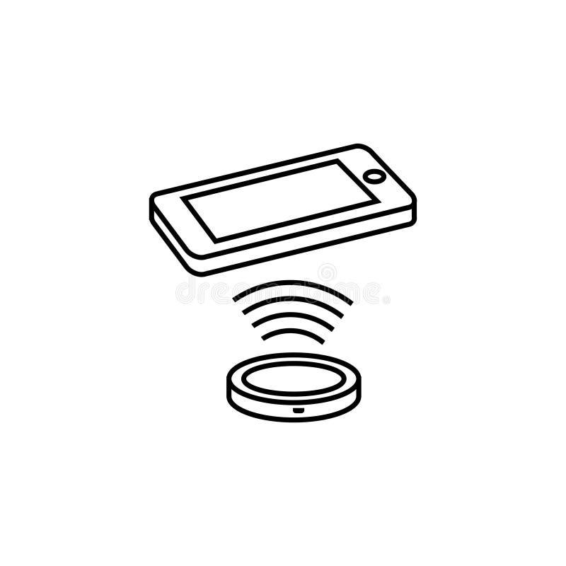 Illustration sans fil d'icône de chargeur Sur le fond blanc illustration de vecteur