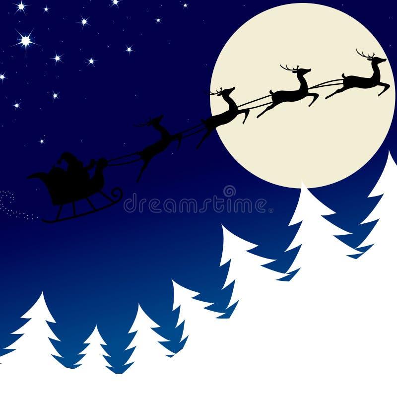 Download Illustration Of Santa And His Reindeer Stock Vector - Illustration of sack, animal: 17293860