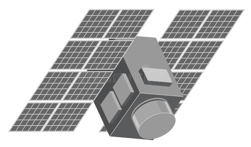 Download Illustration of satellite stock vector. Image of black - 15141425