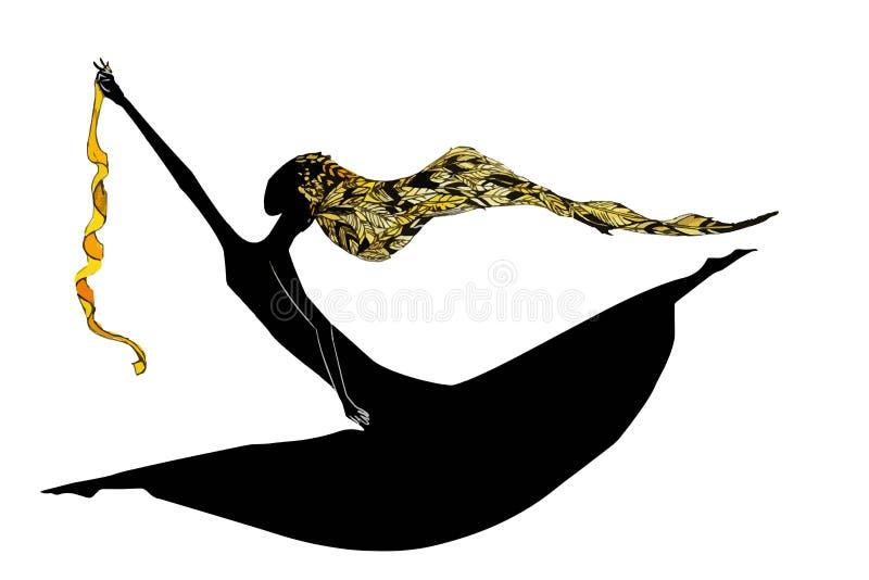 Illustration sautante de fille photos libres de droits